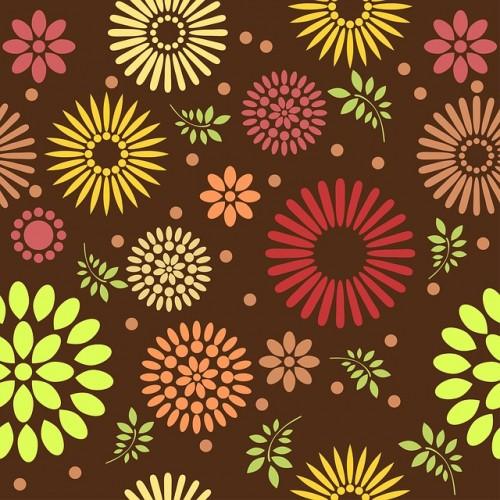 Textura Flores Coloridas
